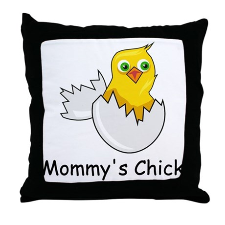 MOMMY'S CHICK Throw Pillow