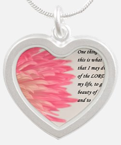 psalm 27 Silver Heart Necklace