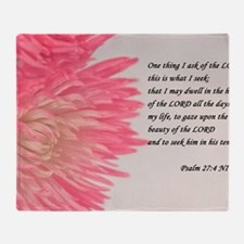 psalm 27 Throw Blanket
