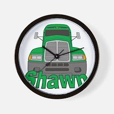 shawn-b-trucker Wall Clock
