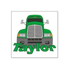 """taylor-b-trucker Square Sticker 3"""" x 3"""""""