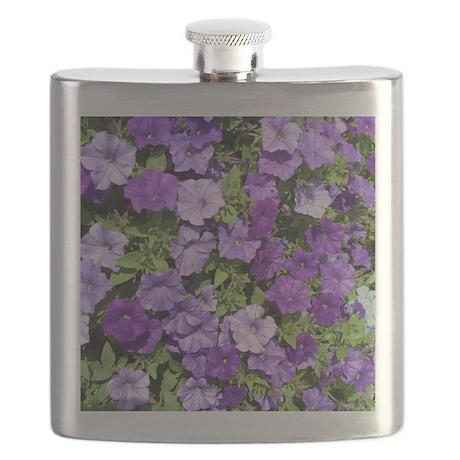 Purple Petunias Flask