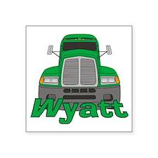 """wyatt-b-trucker Square Sticker 3"""" x 3"""""""