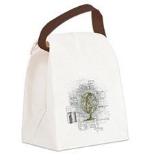 globe Canvas Lunch Bag