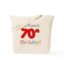 Nonno 70th birthday Tote Bag