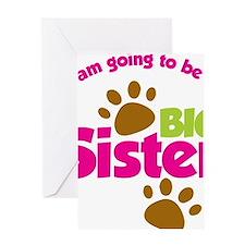 DogsPawPrintBigSisterToBe Greeting Card