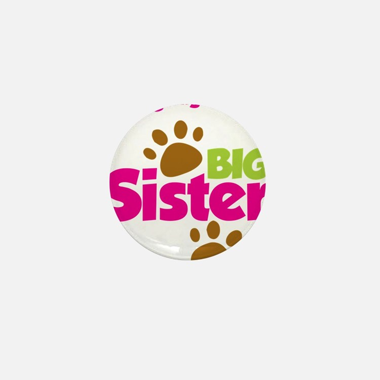 DogsPawPrintBigSisterToBe Mini Button