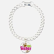 DogsPawPrintBigSisterToB Bracelet