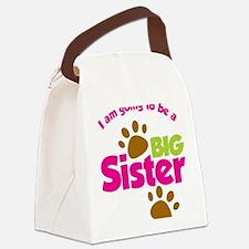 DogsPawPrintBigSisterToBe Canvas Lunch Bag