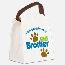 DogPawPrintBigBrotherToBe Canvas Lunch Bag
