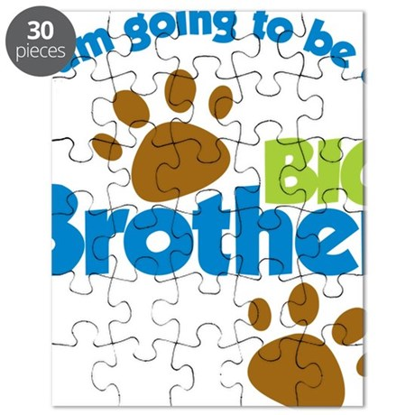DogPawPrintBigBrotherToBe Puzzle