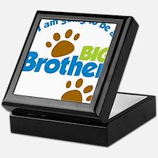 DogPawPrintBigBrotherToBe Keepsake Box