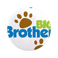 "DogPawPrintBigBrotherToBe 3.5"" Button"