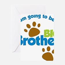 DogPawPrintBigBrotherToBe Greeting Card