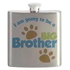 DogPawPrintBigBrotherToBe Flask