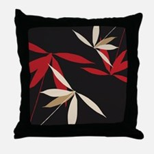 Oriental Floral Decor Throw Pillow