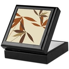Oriental Floral Decor Keepsake Box