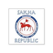 "Sakha Republic (Yakutia) Square Sticker 3"" x 3"""