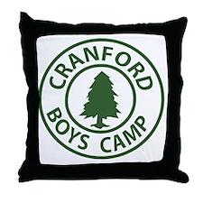 Cranford-Boys-Camp_Cafe Throw Pillow