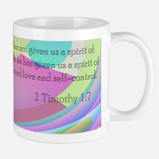 2 Timothy 1:7 Stainless Steel Travel Mugs