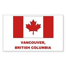 Vancouver Can Flag Rectangle Decal