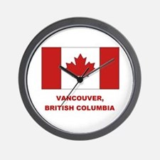Vancouver Can Flag Wall Clock