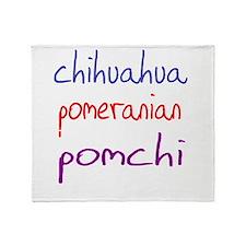 pomchi_black Throw Blanket