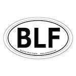 Bluefield, West Virginia Oval Car Sticker
