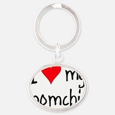 iheartpomchi Oval Keychain