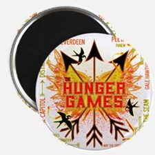 hunger games gear with 3 black arrows and y Magnet