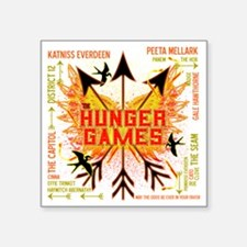 "hunger games gear with 3 bl Square Sticker 3"" x 3"""