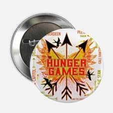 "hunger games gear with 3 black arrows 2.25"" Button"
