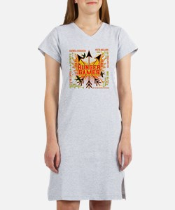 hunger games gear with 3 black  Women's Nightshirt