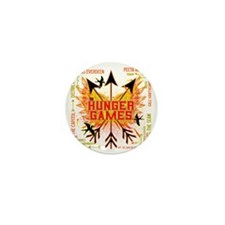hunger games gear with 3 black arrows  Mini Button