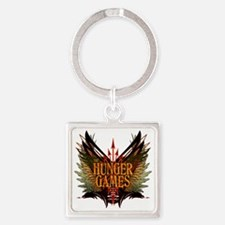 hunger games with wings and arrows Square Keychain