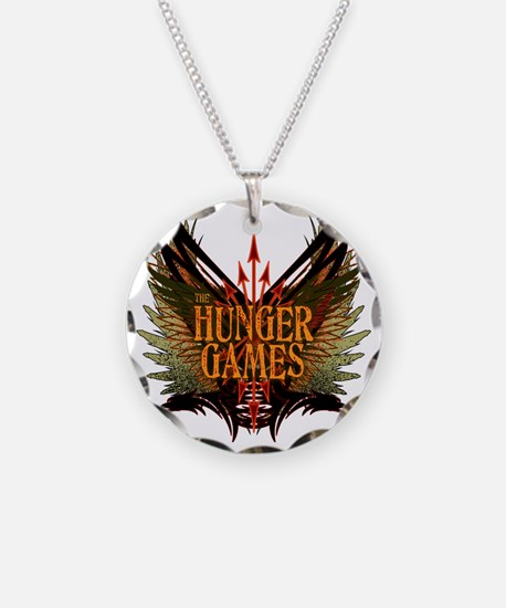 hunger games with wings and  Necklace Circle Charm