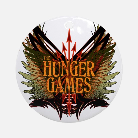 hunger games with wings and arrows  Round Ornament