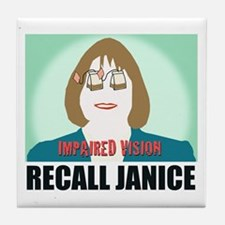 Recall Janice Impaired Vision Tile Coaster