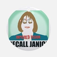 Recall Janice Impaired Vision Round Ornament