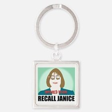 Recall Janice Impaired Vision Square Keychain