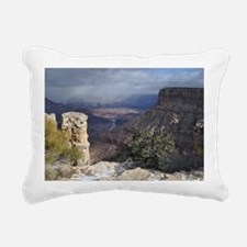 Grand Canyon View Rectangular Canvas Pillow