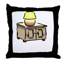 One Nightstand White Throw Pillow
