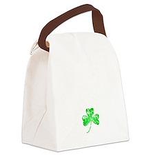 Lucky Shamrock -blk Canvas Lunch Bag