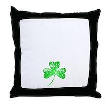 Lucky Shamrock -blk Throw Pillow