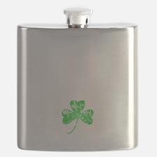 Lucky Shamrock -blk Flask
