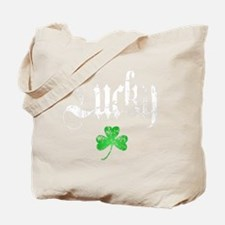 Lucky Shamrock -blk Tote Bag