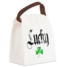 Lucky Shamrock Canvas Lunch Bag