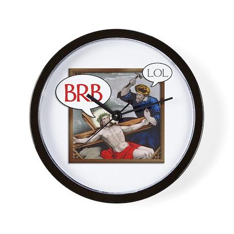 """""""BRB Jesus"""" Wall Clock"""