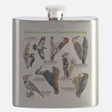 Woodpeckers of North America Flask