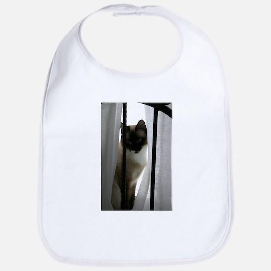 window-cat Baby Bib